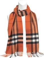 Burberry 168X130 Giant Icon Scarf in Clementine Cashmere
