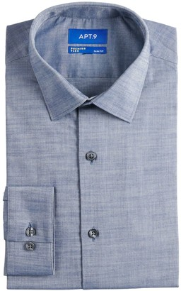 Apt. 9 Men's Tall Slim-Fit Wrinkle Resistant Spread-Collar Dress Shirt