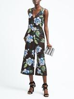 Banana Republic Floral V-Neck Crop Jumpsuit