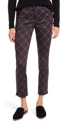 Wit & Wisdom Ab-Solution Plaid High Waist Ankle Skinny Pants