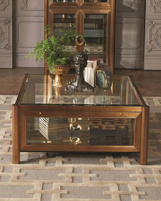 Global Views Apothecary Glass Top Coffee Table