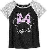 Disney Disney's® Minnie Mouse Polka-Dot Sleeve Graphic T-Shirt, Big Girls (7-16)