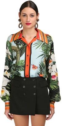 Dolce & Gabbana Tropical Printed Silk Twill Shirt