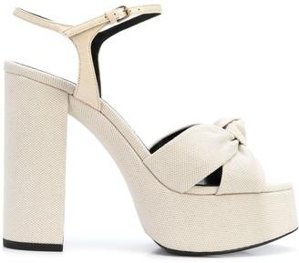 Saint Laurent Bianca 125mm platform sandals