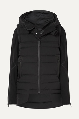 TEMPLA 2l Bio Convertible Hooded Quilted Shell Down Jacket - Black