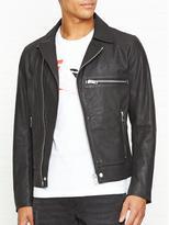 Diesel Hater Leather Biker Jacket