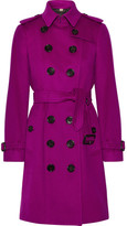 Burberry The Sandringham Cashmere Trench Coat - Violet