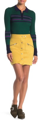 Honey Punch Faux Suede Mini Skirt