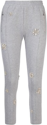 Area Embellished Fitted Track Pants