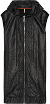 NO KA 'OI No Ka'Oi - Nehe Coated Shell And Cotton-blend Jersey Gilet - Black