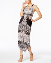INC International Concepts Petite Printed Halter Dress, Only at Macy's