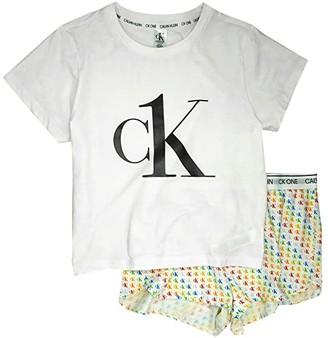 Calvin Klein Underwear One Sleep Pajama in A Bag (Logo/Pride/White) Women's Pajama Sets