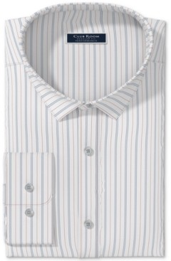 Club Room Men's Triple Fine Stripe Dress Shirt, Created for Macy's