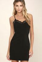Otherworldly Black Lace Bodycon Dress