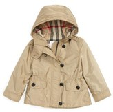 Burberry 'Karen' Hooded Nylon Jacket (Baby Girls)