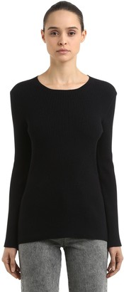 Coliac Ariete Rib Knit Sweater W/ Snap Buttons