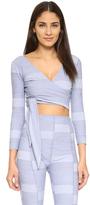 Lisa Marie Fernandez Dree Stripe Wrap Top