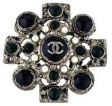 Chanel Gripoix CC Brooch Pendant