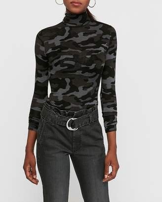 Express Camo Mock Neck Layering Tee