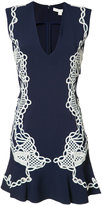 Jonathan Simkhai lace appliqué deep-V dress - women - Nylon/Spandex/Elastane/Acetate/Viscose - 2