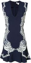 Jonathan Simkhai lace appliqué deep-V dress - women - Nylon/Spandex/Elastane/Acetate/Viscose - 4