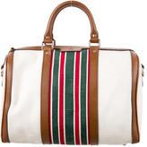 Gucci Canvas Web Boston Bag