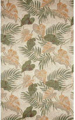 Liora Manné Ravella Tropical Leaf Indoor/Outdoor Rug Neutral 5'X7'6""
