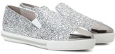 Miu Miu Glitter slip-on sneakers