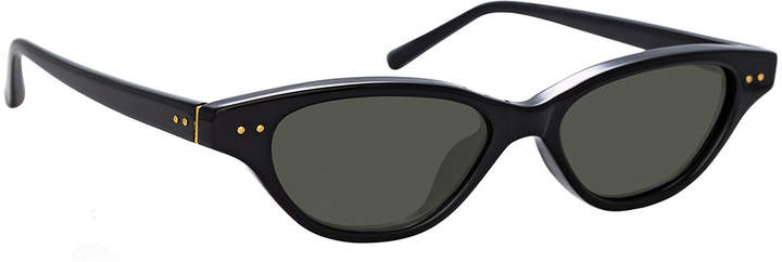 Linda Farrow Slim Acetate Cat-Eye Sunglasses