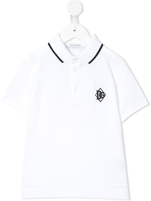 Dolce & Gabbana Kids Embroidered Logo Polo Shirt