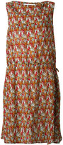 Societe Anonyme camouflage drawstring dress - women - Silk - 1