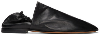 Bottega Veneta Black Paper Leather Loafers