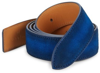 Corthay Classic Suede Buckle Belt Strap