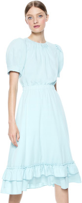Alice + Olivia Vida Puff Sleeve Midi Dress