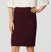 LOFT Marled Pull On Pencil Skirt