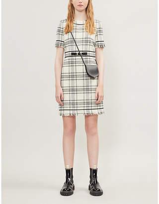 Claudie Pierlot Rufino check-print boucle mini dress