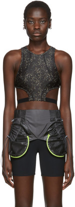 Charlotte Knowles SSENSE Exclusive Black Void Sports Bra