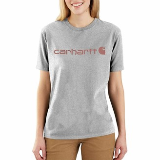 Carhartt Women's Size WK195 Workwear Logo Short T-Shirt