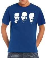 Walter Touchlines Men's T-Shirt Jesse Mike Faces blue Size: