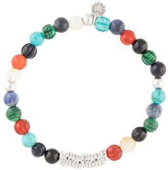 Tateossian Classic Discs beaded bracelet