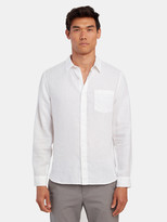 Vince Linen Long Sleeve Button Up Shirt