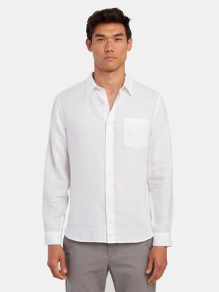 Vince Linen Long Sleeve Button Up Shirt