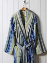 Christy Supreme capsule stripe robe large blue