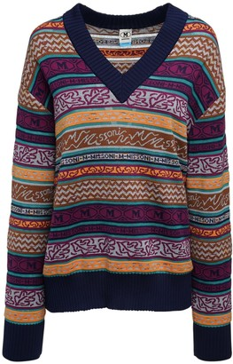 M Missoni All Over Logo Cotton Blend Sweater
