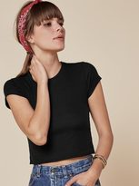 Reformation Rib Cropped Crew Tee Women's T-shirt