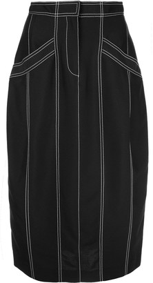 Derek Lam Pegged Skirt with Pockets