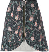 Isabel Marant quilted mini skirt - women - Silk/Cotton - 40