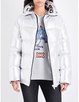 Sjyp Oversized metallic puffer jacket