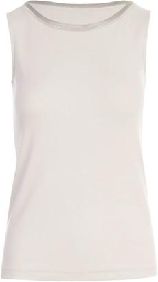 Fabiana Filippi Crew Neck Sleeveless T-shirt