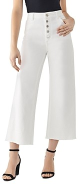 DL1961 Hepburn High-Rise Cropped Wide-Leg Jeans in Tallac